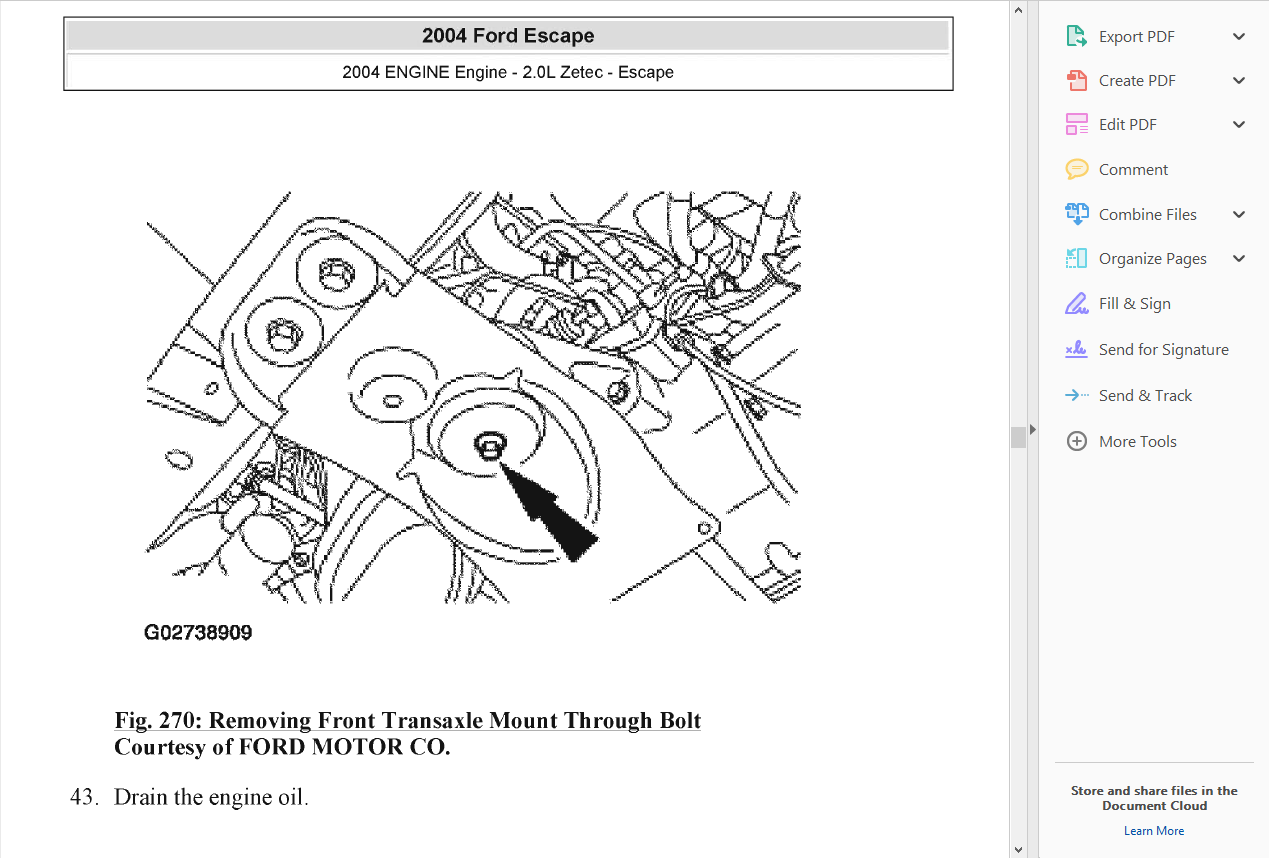 official workshop service repair manual ford escape 2000