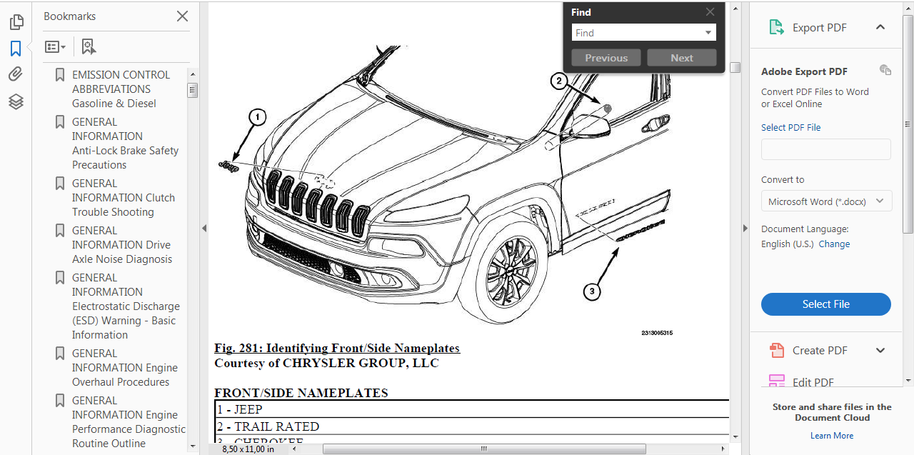 Official Workshop Service Repair Manual For Jeep