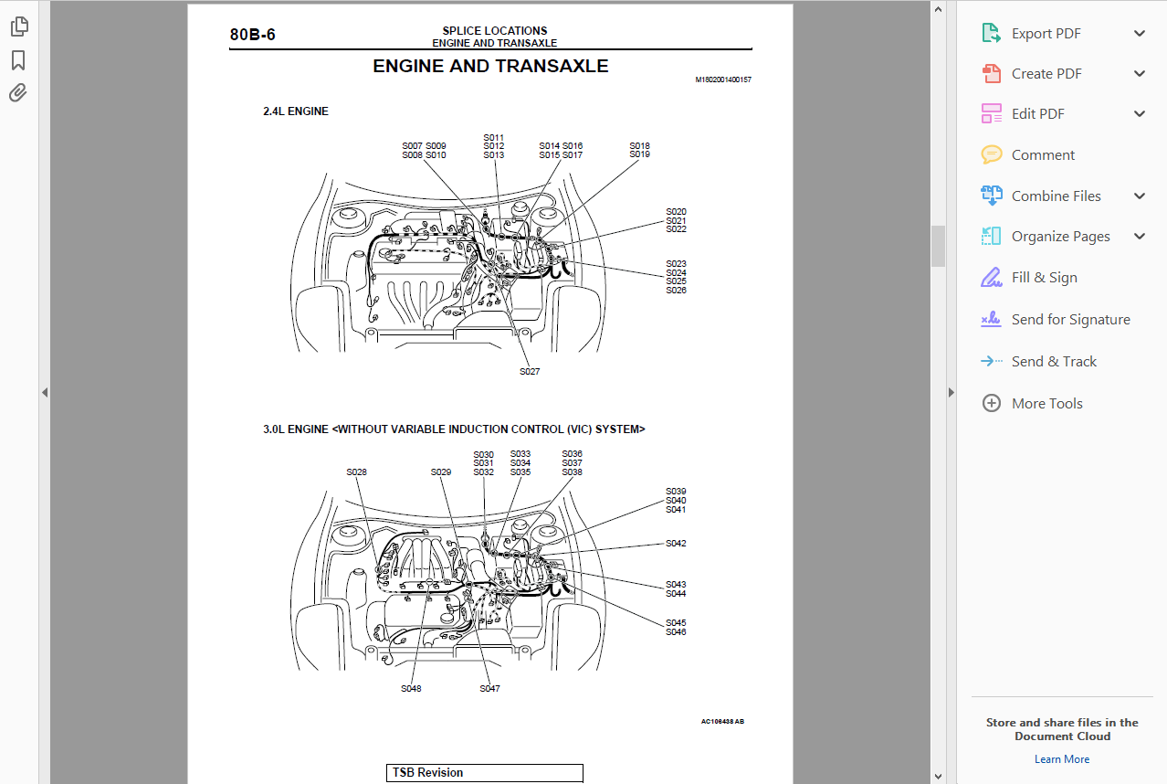 Official Workshop Service Repair Manual Mitsubishi Eclipse 2000 2005 6 4l Engine Diagram Get More About