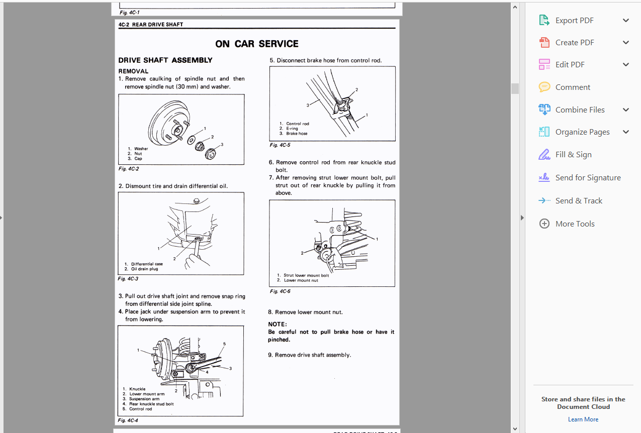 Official Workshop Service Repair Manual Suzuki Swift 1988