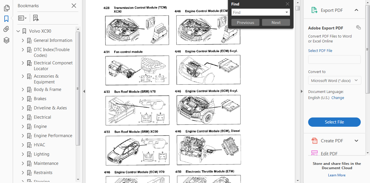 Diagram  Volvo Xc90 2011 Electrical Wiring Diagram Manual